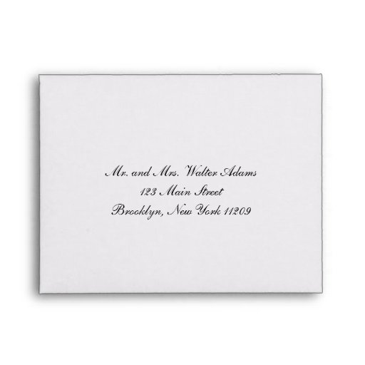 Envelope For RSVP Card Wedding Invitation Envelope