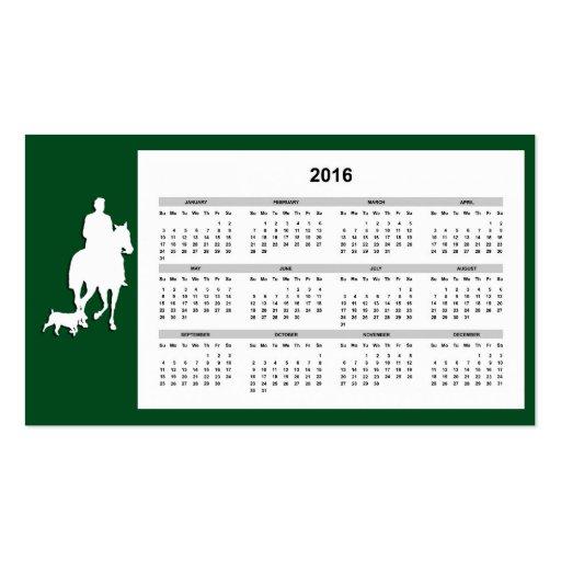 equestrian business card with 2016 calendar zazzle