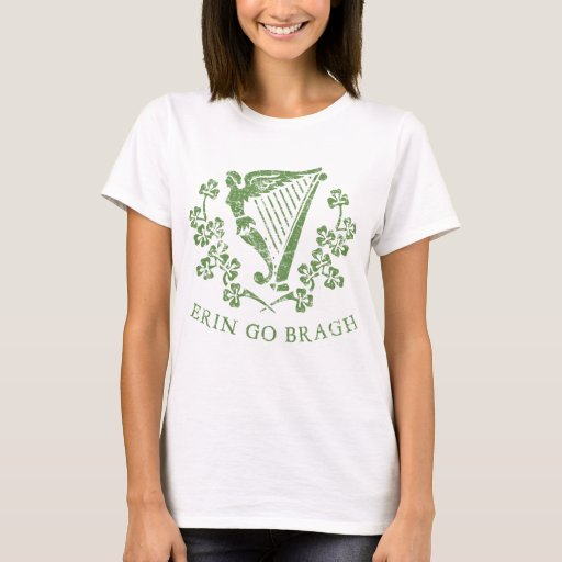 Erin Go Bragh Irish Gaelic Motto Ireland Forever Harp Basic T-Shirt