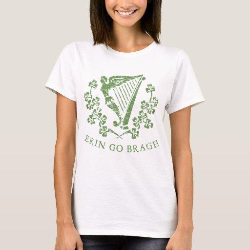 Erin Go Bragh Irish Gaelic Motto Ireland Forever Harp Basic T-Shirt