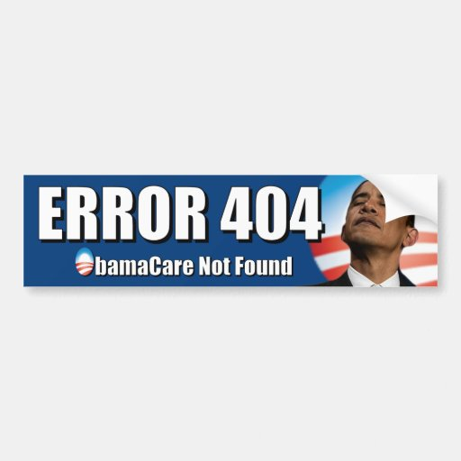 404 Not Found: Error 404: Obamacare Not Found
