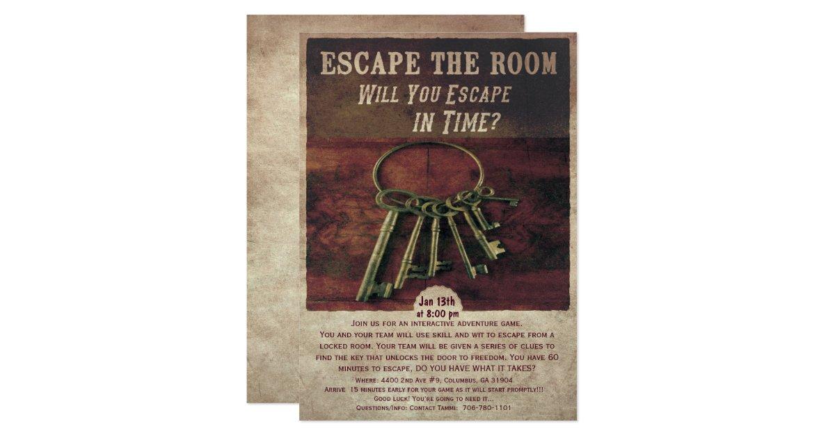 Escape The Room Invitation Zazzle