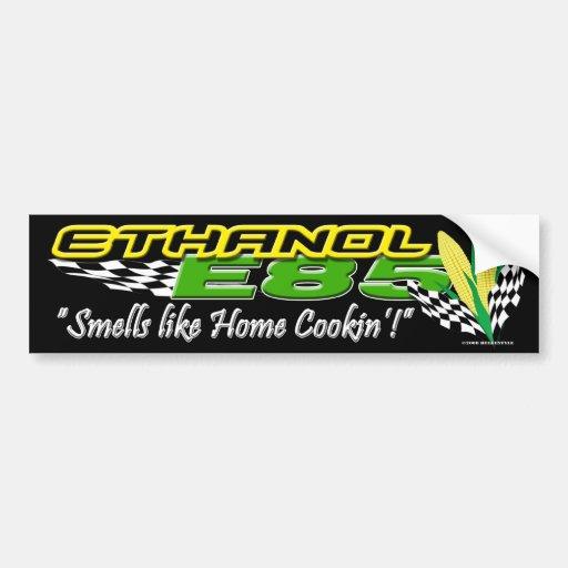 ethanol e85 bumper sticker zazzle. Black Bedroom Furniture Sets. Home Design Ideas