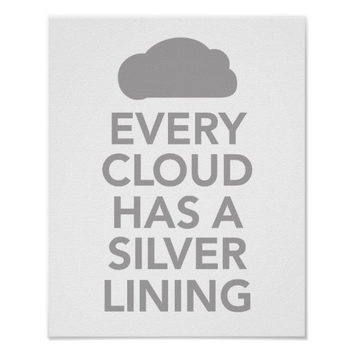 Quotes/Proverbs similar to 'Every cloud has a silver lining'?