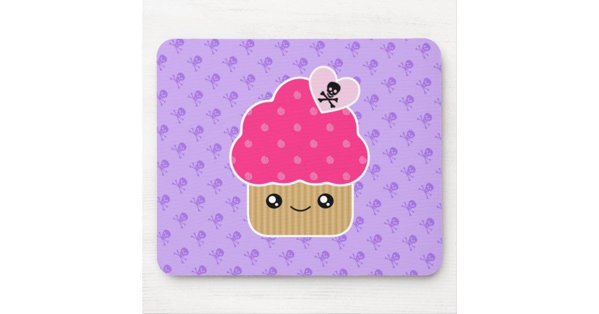 Evil Cute Cupcake Of Death Kawaii Mousepad | Zazzle