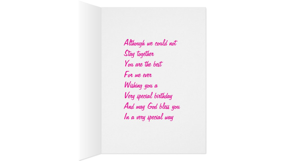 Birthday Greeting Cards For Ex Boyfriends List Boyfriend Zazzle
