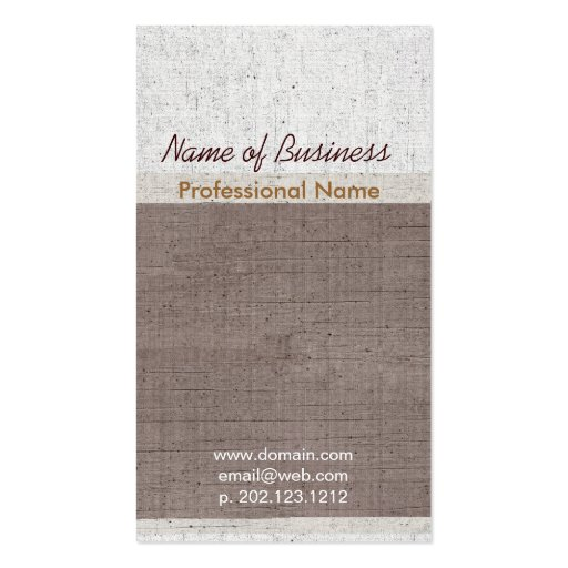 Exclusive Occupational Upscale Aged Business Card Template