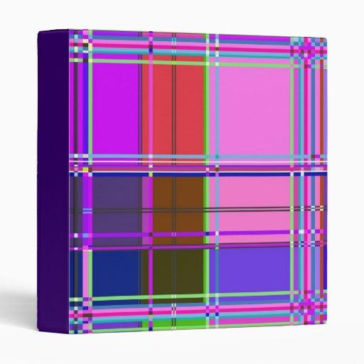 Fabric Cloth Colors Squares Binder