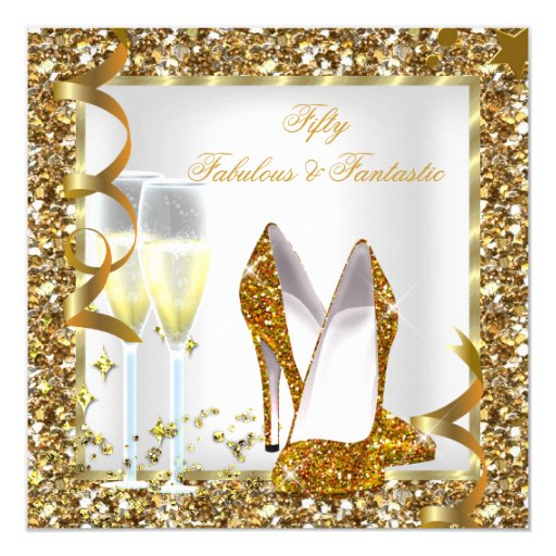Fab 50 People: Fabulous 50 & Fantastic White Gold Birthday Party Custom