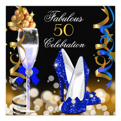 Fab 50 People: Fabulous 50 Royal Blue Black Gold Birthday Party 5.25