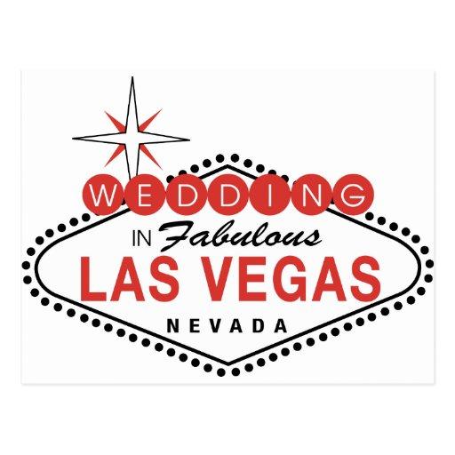 Fabulous Las Vegas Wedding Template Customizable Postcard
