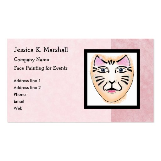 Face Painter Fantasy Makeup Artist Pink Business Card Templates