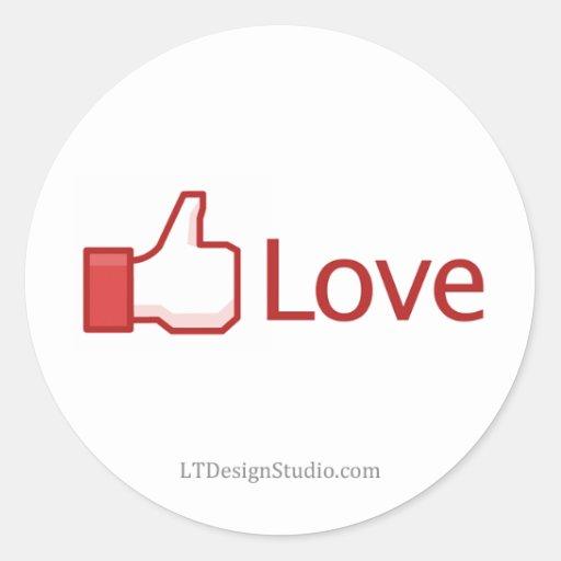 Facebook Love Button - Stickers | Zazzle