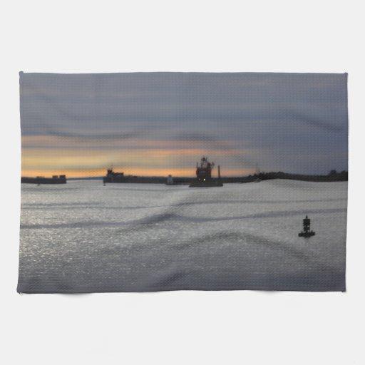 A Kitchen Fairhaven: Fairhaven - New Bedford Harbor Kitchen Towel