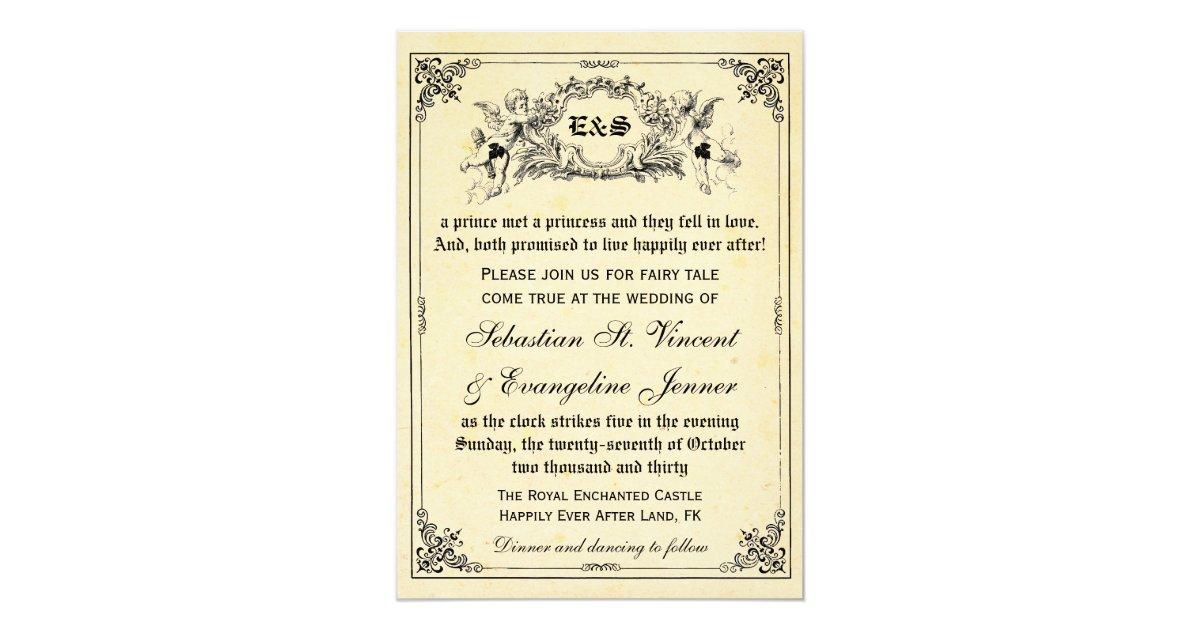 Storybook Wedding Invitation: Fairy Tale Storybook Wedding Invitations