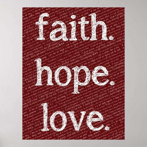 Love Faith Hope Quotes: Faith Hope Love 1 Corinthians 13:4-7 Bible Quote Poster