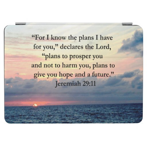 Faith in jeremiah 29 11 sunrise verse ipad air cover zazzle - Jer 29 11 kjv ...