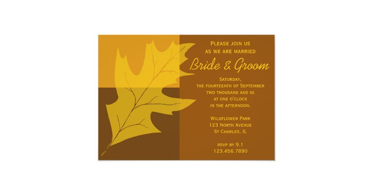 Fall Color Wedding Invitations: Fall_color_block_wedding_invitation