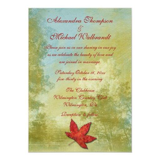 Fantasy Wedding Invitations: Fall Fantasy Wedding Invitation