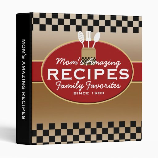 Family Recipes Personalized 3 Ring Binder