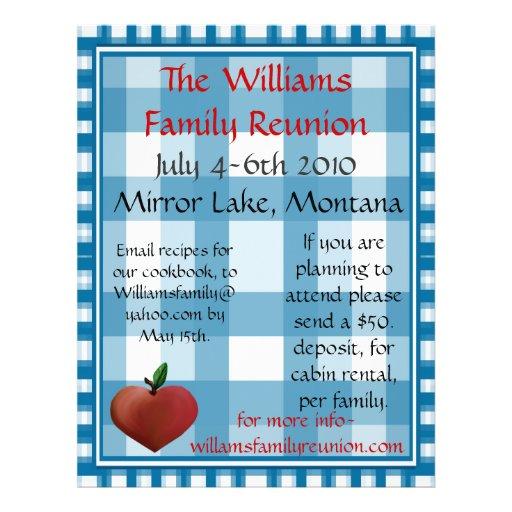 Family Reunion Flier Flyer Design