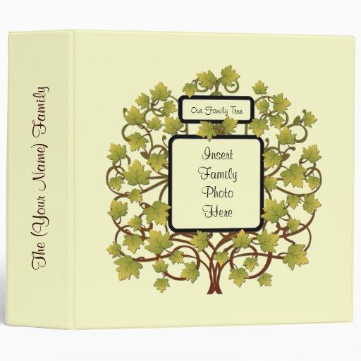 "FAMILY TREE 2"" HEIRLOOM GENEALOGY PHOTO ALBUM 3 RING"