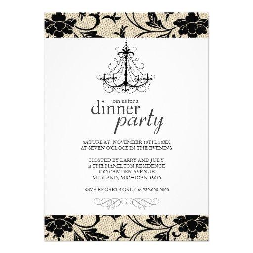 "Dinner Party Invitations: Fancy Dinner Party Invitations 5"" X 7"" Invitation Card"