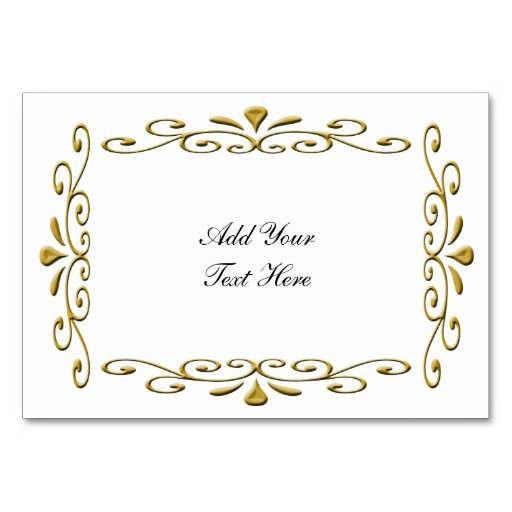 fancy Gold Wedding Frame with text Table Cards | Zazzle