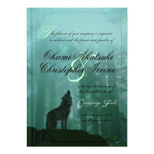 Fantasy Wedding Invitations: Fantasy Book Wedding Invitation 11 Cm X 16 Cm Invitation