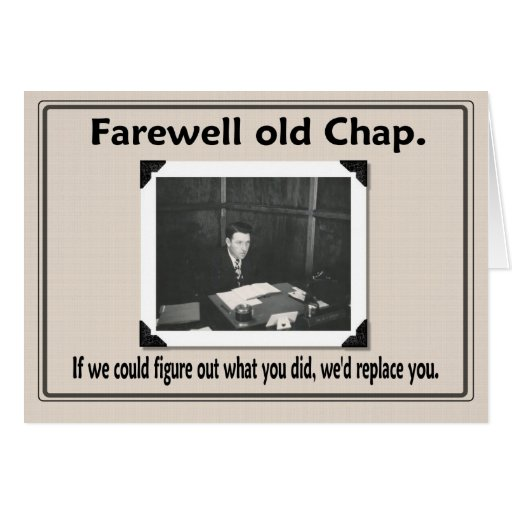Funny Farewell Quotes To Coworkers: Farewell Goodbye Coworker Greeting Card