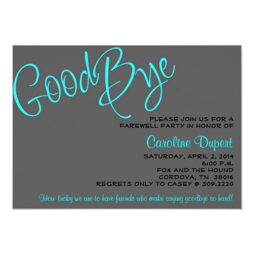farewell invitation  zazzle