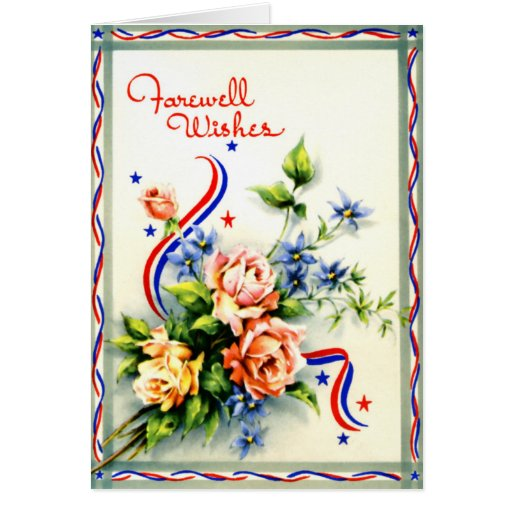 farewell wishes vintage card  zazzle