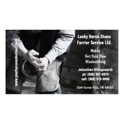 Farrier Business Card Templates Bizcardstudio