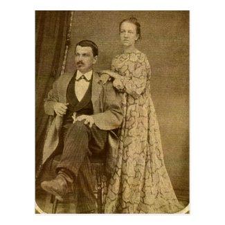 Fashionable Newlywed Couple circa 1870