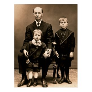 Father & Sons: Earl with Henry & Palmer BURG c1912
