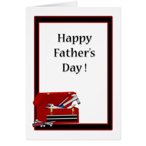 Father's Day Toolbox Card | Zazzle