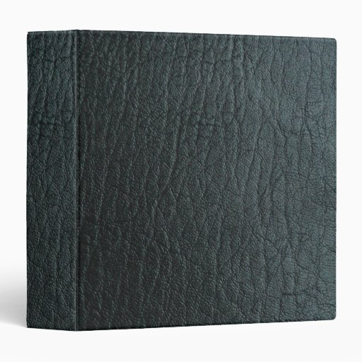 Faux Black Leather Texture 3 Ring Binder