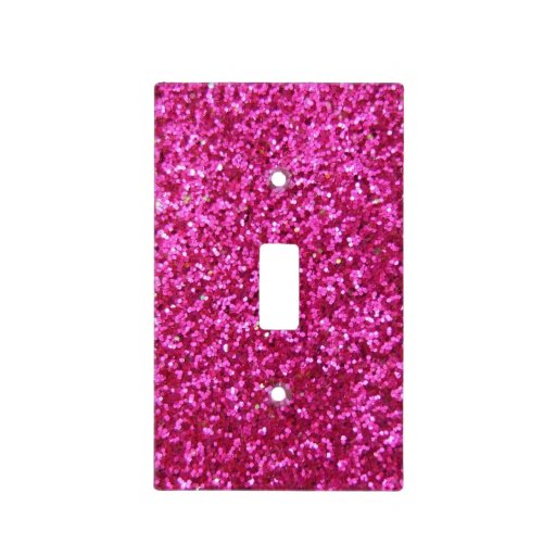 Faux Hot Pink Glitter Light Switch Cover Zazzle