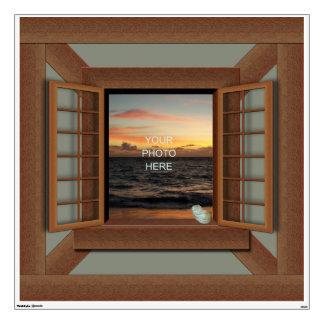trompe l oeil wall decals wall stickers zazzle. Black Bedroom Furniture Sets. Home Design Ideas