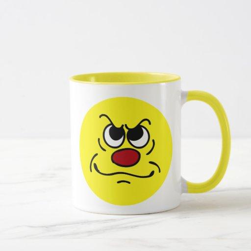 Fed Up Smiley Face Grumpey Mug | Zazzle