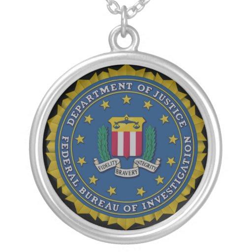 federal bureau of investigation fbi round pendant necklace zazzle. Black Bedroom Furniture Sets. Home Design Ideas