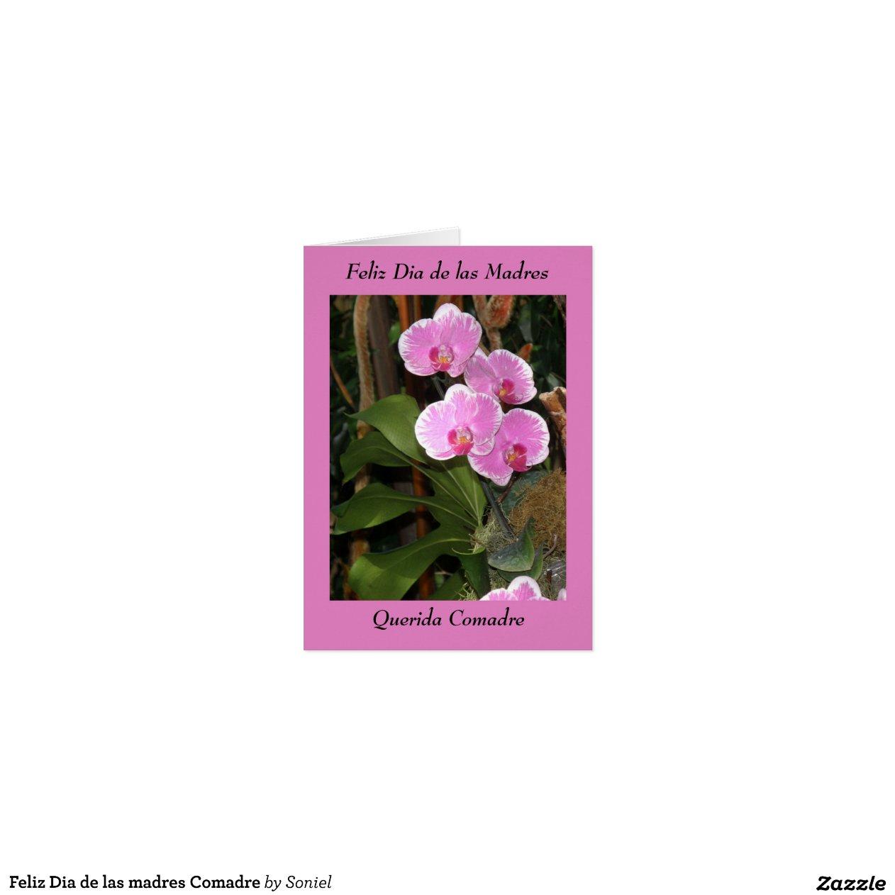 Feliz Aniversário Comadre: Feliz Dia De Las Madres Comadre Greeting Cards