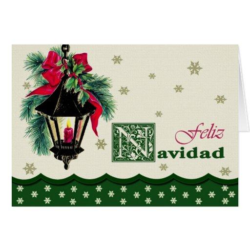 Feliz Navidad. Spanish Christmas Card   Zazzle