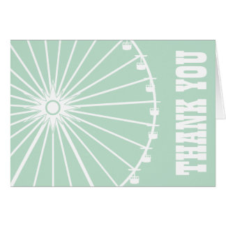 Carnival thank you cards zazzle - Sage green color wheel ...