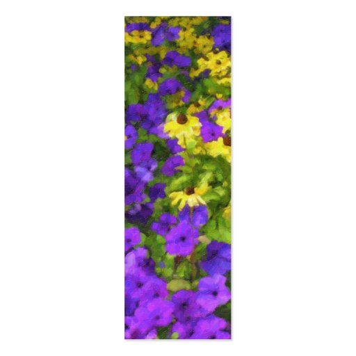 double sided bookmark template - field of colors bookmark double sided mini business cards