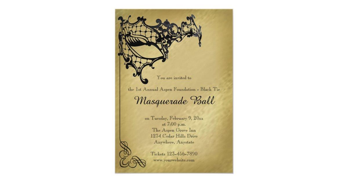 Masquerade Wedding Invitations: Filigree Masquerade Mardi Gras Ball Invitation
