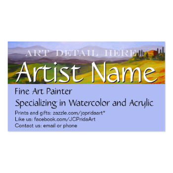 Fine Art Painter Artist's Business Card Template