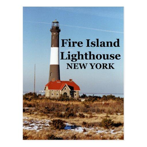 Fire Island Ny: Fire Island Lighthouse, New York Postcard