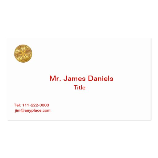 Fire Chief Firefighter 5 Bugle Gold Medallion Business Cards