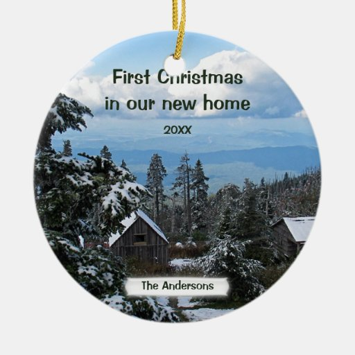 First Christmas In Our New Home Personalize Ceramic